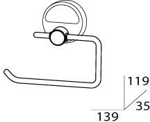 Бумагодержатель FBS Luxia LUX 056 без крышки хром