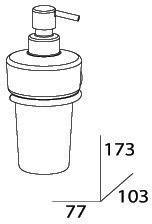 Дозатор FBS Nostalgy NOS 009 для жидкого мыла подвесной хром / стекло матовое