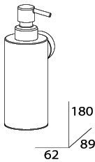Дозатор FBS Nostalgy NOS 011 для жидкого мыла подвесной хром