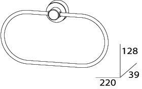 Полотенцедержатель FBS Nostalgy NOS 022 кольцо цвет хром