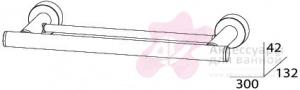 Полотенцедержатель FBS Nostalgy NOS 034 двойной длина 30 см цвет хром