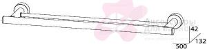 Полотенцедержатель FBS Nostalgy NOS 036 двойной длина 50 см цвет хром