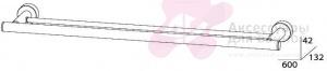 Полотенцедержатель FBS Nostalgy NOS 037 двойной длина 60 см цвет хром