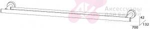 Полотенцедержатель FBS Nostalgy NOS 038 двойной длина 70 см цвет хром