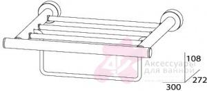 Полотенцедержатель FBS Nostalgy NOS 039 полка с нижним держателем длина 30 см цвет хром