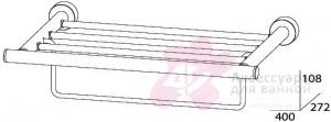 Полотенцедержатель FBS Nostalgy NOS 040 полка с нижним держателем длина 40 см цвет хром