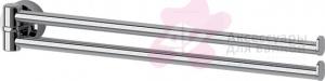 Полотенцедержатель FBS Nostalgy NOS 044 двойной поворотный длина 35 см цвет хром