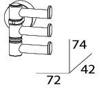 Полотенцедержатель FBS Nostalgy NOS 047 тройной поворотный длина 7,2 см цвет хром
