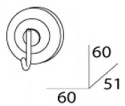 Крючок FBS Standard STA 001 одинарный хром