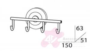 Крючок FBS Standard STA 004 четверной хром