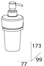 Дозатор FBS Standard STA 009 для жидкого мыла подвесной хром / стекло матовое