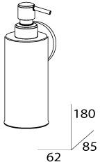 Дозатор FBS Standard STA 011 для жидкого мыла подвесной хром