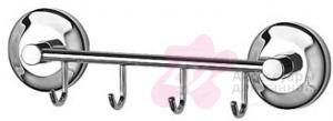 Крючок FBS Standard STA 025 на планке (4 шт хром
