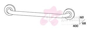 Полотенцедержатель FBS Standard STA 030 одинарный длина 40 см цвет хром