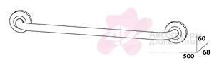 Полотенцедержатель FBS Standard STA 031 одинарный длина 50 см цвет хром