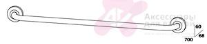 Полотенцедержатель FBS Standard STA 033 одинарный длина 70 см цвет хром