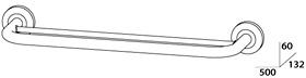 Полотенцедержатель FBS Standard STA 036 двойной длина 50 см цвет хром