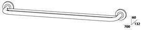 Полотенцедержатель FBS Standard STA 038 двойной длина 70 см цвет хром