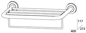 Полотенцедержатель FBS Standard STA 040 полка с нижним держателем длина 40 см цвет хром