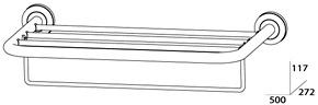 Полотенцедержатель FBS Standard STA 041 полка с нижним держателем длина 50 см цвет хром