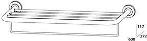 Полотенцедержатель FBS Standard STA 042 полка с нижним держателем длина 50 см цвет хром