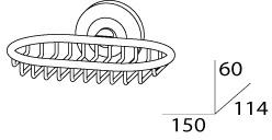 Мыльница FBS Standard STA 050 настенная цвет хром