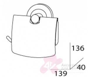 Бумагодержатель FBS Standard STA 055 с крышкой хром
