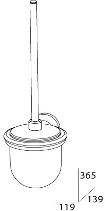 Ерш FBS Standard STA 057 для туалета подвесной хром / хрусталь матовый