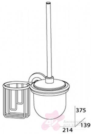 Ерш FBS Standard STA 058 для туалета подвесной с держателем освежителя воздуха (справа хром / хрусталь матовый