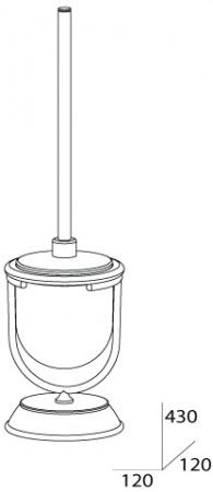 Ершик FBS Universal UNI 007 для туалета напольный хром /матовый хрусталь