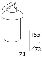 Дозатор FBS Universal UNI 008 для жидкого мыла настольный хром
