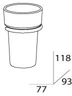 Стакан FBS Universal UNI 025 подвесной хром /хрусталь матовый
