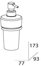 Дозатор FBS Universal UNI 028 для жидкого мыла подвесной хром