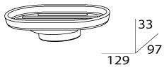 Мыльница FBS Universal UNI 031 подвесная цвет хром /хрусталь матовый