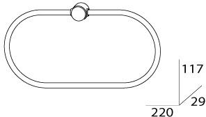 Полотенцедержатель FBS Universal UNI 035 кольцо цвет хром