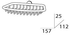Мыльница FBS Universal UNI 043 решетка хром