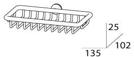 Мыльница FBS Universal UNI 044 решетка настенная хром
