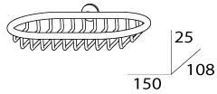 Мыльница FBS Universal UNI 045 решетка настенная хром