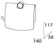Бумагодержатель FBS Universal UNI 048 с крышкой хром