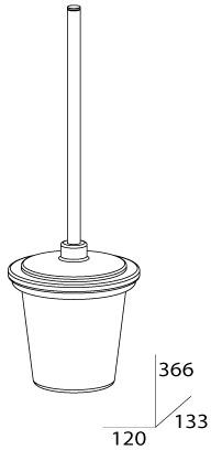 Ершик FBS Universal UNI 049 для туалета настенный хром /матовый хрусталь