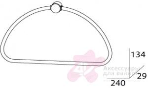 Полотенцедержатель FBS Universal UNI 052 кольцо цвет хром