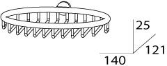 Мыльница FBS Universal UNI 053 решетка настенная хром