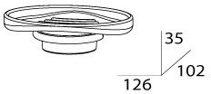Мыльница FBS Universal UNI 054 подвесная цвет хром /хрусталь матовый