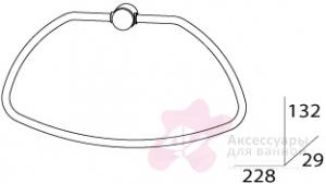 Полотенцедержатель FBS Universal UNI 056 кольцо цвет хром