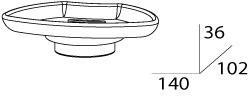 Мыльница FBS Universal UNI 058 подвесная цвет хром /хрусталь матовый