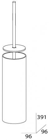 Ершик FBS Universal UNI 113 для туалета напольный хром