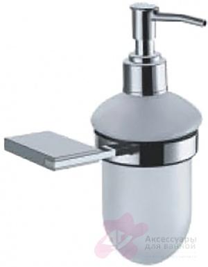 Дозатор для мыла Fixsen Noble FX-6112 подвесной хром/стекло матовое