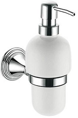 Дозатор для мыла Fixsen Best FX-71612 подвесной хром/керамика белая