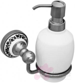 Дозатор для мыла Fixsen Bogema FX-78512 подвесной хром/керамика белая