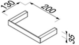 Полотенцедержатель Geesa Modern Art 3504-02 одинарный длиной 60 см хром